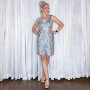 Banana Republic Dresses - Petite Silver Banana Republic Silk Dress